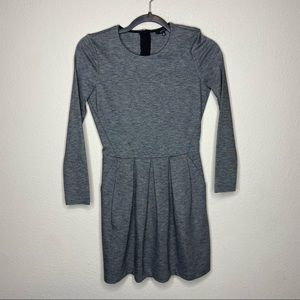 ARITZIA TALULAH Gray Pocket Dress Exposed Zipper 0